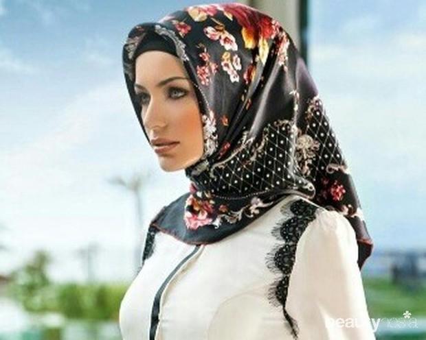 Hijab berbahan silk menjadi gaya hijab khas Turki