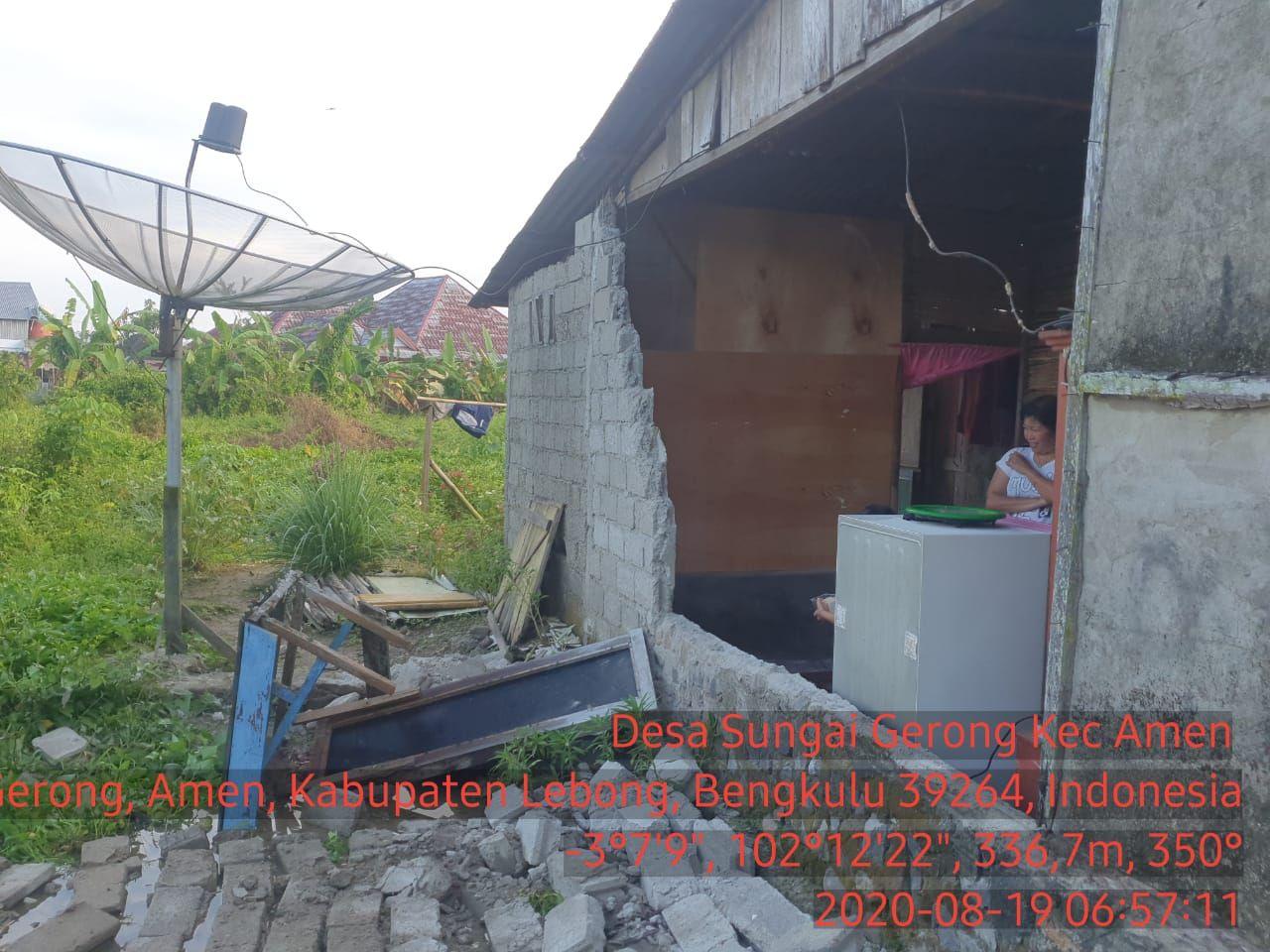 Gempa Kuat M6.6 Saat Guncang Kota Bengkulu. (Dok: BNPB)