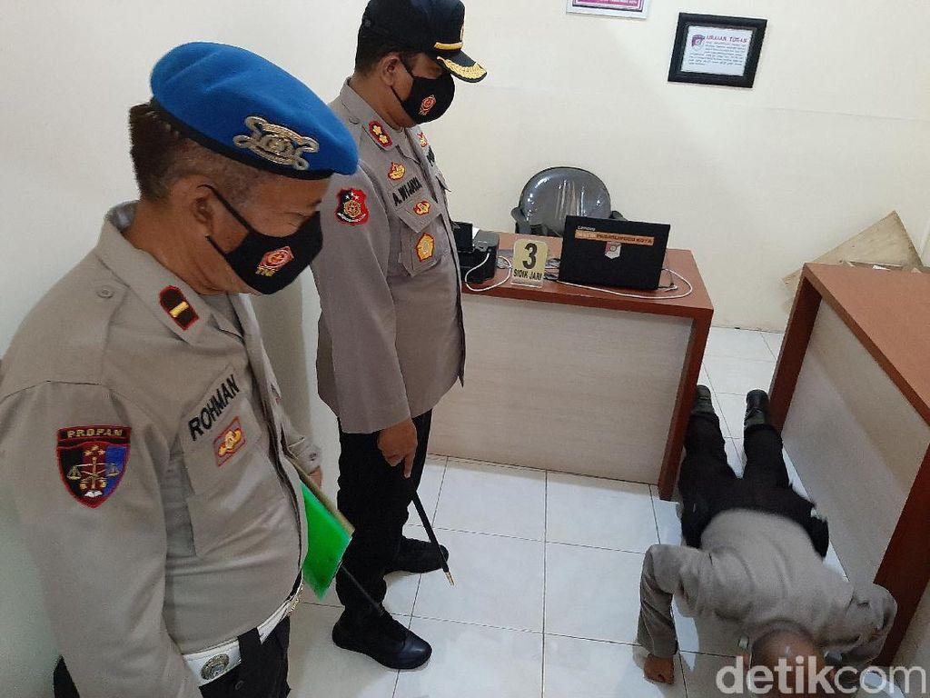 Pelanggar Protokol Kesehatan di Kota Probolinggo Dihukum Push Up