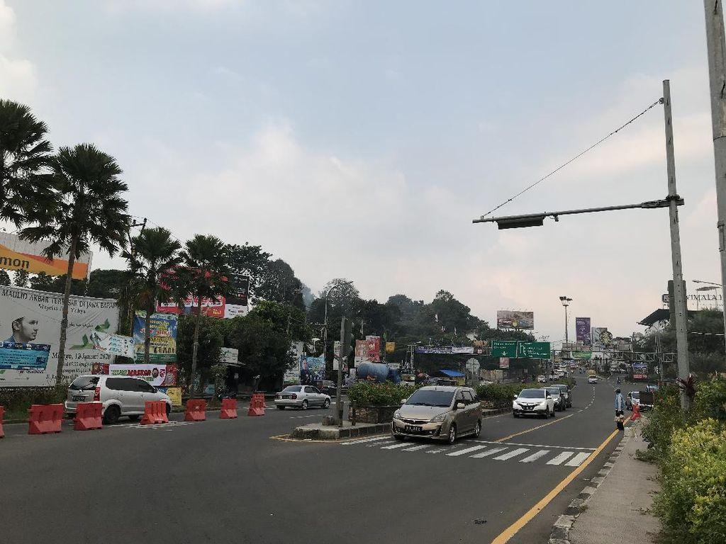 Jelang Long Weekend, Lalin Simpang Gadog Puncak Masih Normal