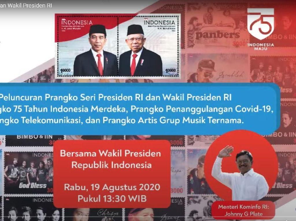 Prangko Seri Jokowi-Maruf Amin hingga COVID-19 Resmi Diterbitkan