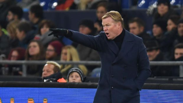 Netherlands' coach Ronald Koeman reacts during the UEFA Nations League football match Germany v the Netherlands in Gelsenkirchen on November 19, 2018. (Photo by Patrik STOLLARZ / AFP)
