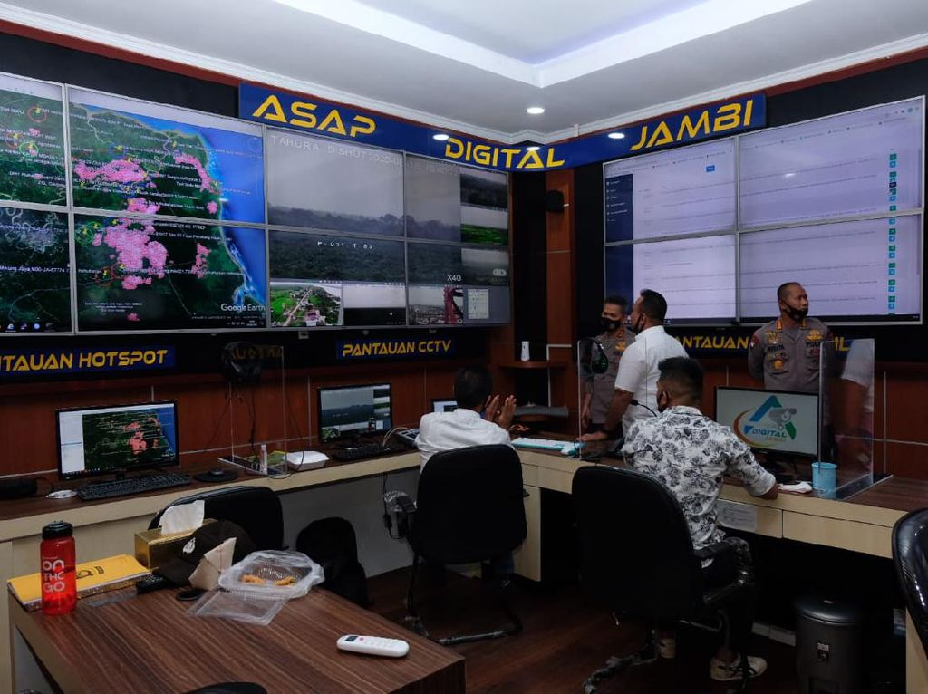 Polisi Tambah CCTV Pantau Karhutla di Jambi