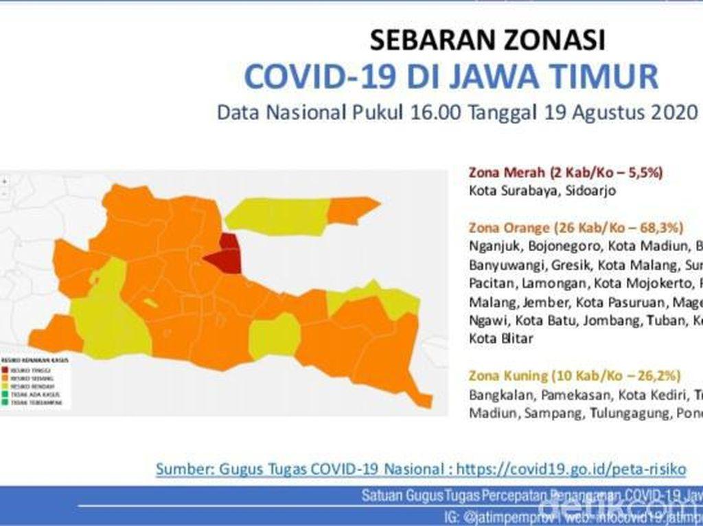 Angka-angka di Balik Status Surabaya yang Kembali Zona Merah COVID-19
