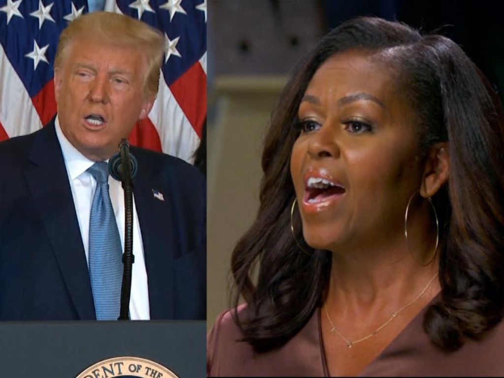 Pedas! Michelle Obama Sebut Trump Rasis