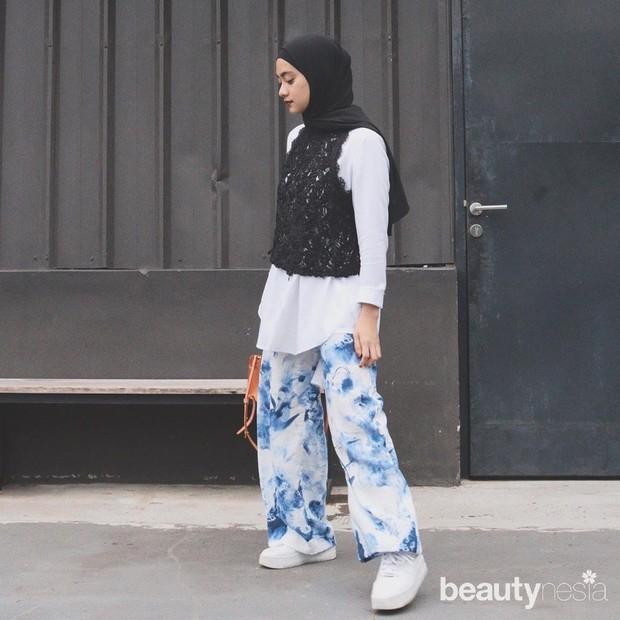 Inspirasi gaya hijab Ayudia Bing Slamet