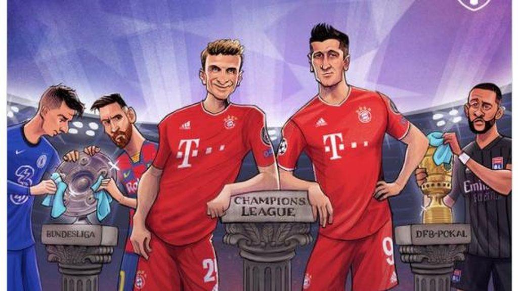 Meme Bungkam Lyon, Bayern Tantang PSG di Final UCL