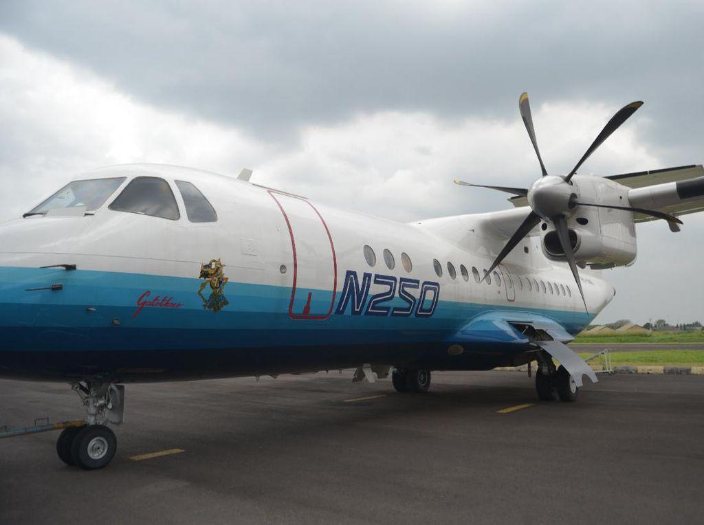 Sebelum Dimuseumkan, Pesawat N250 Karya Habibie Dipreteli