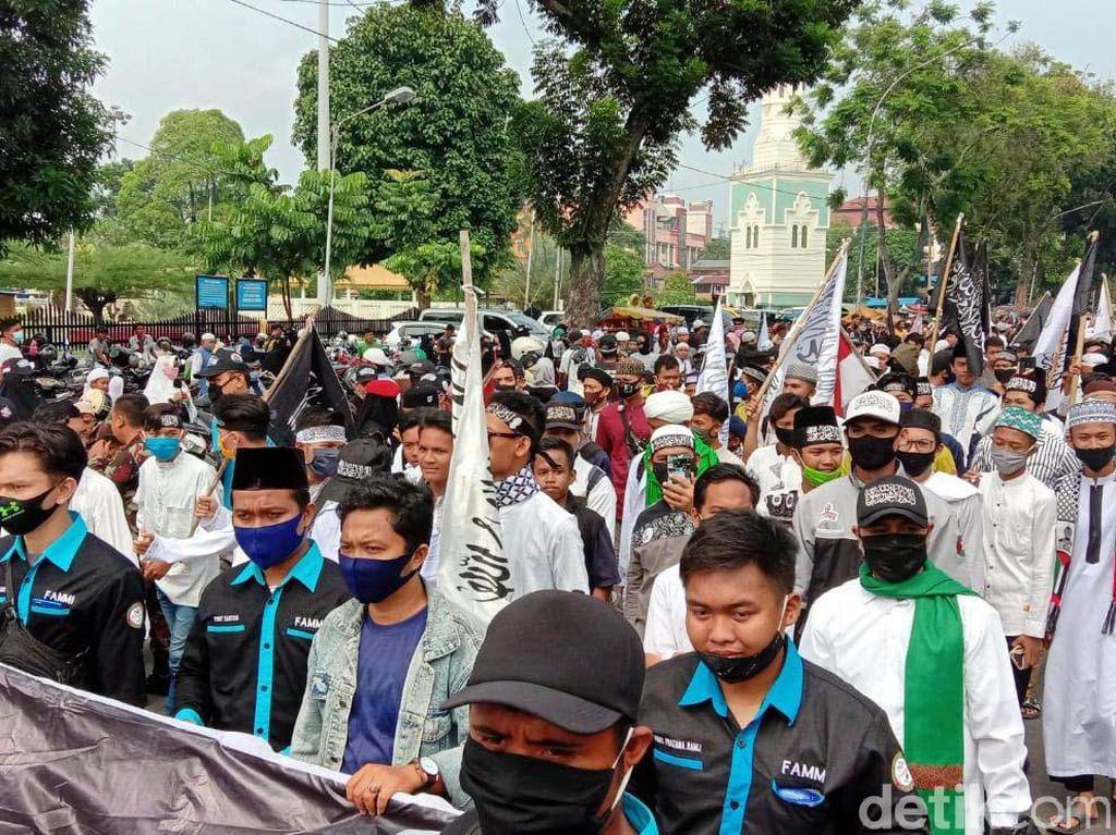 Massa Peringatan 1 Muharam di Medan Bubar, Lalu Lintas Dibuka Lagi
