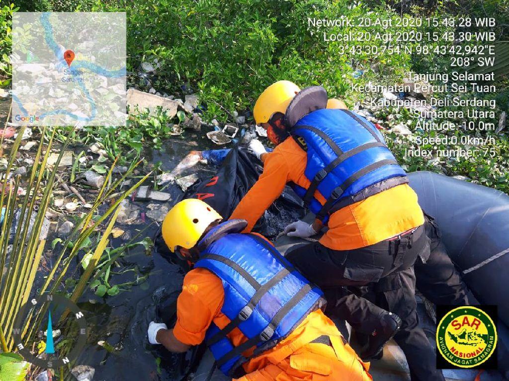 Hanyut di Parit Medan Pekan Lalu, Marolop Ditemukan Tewas di Deli Serdang
