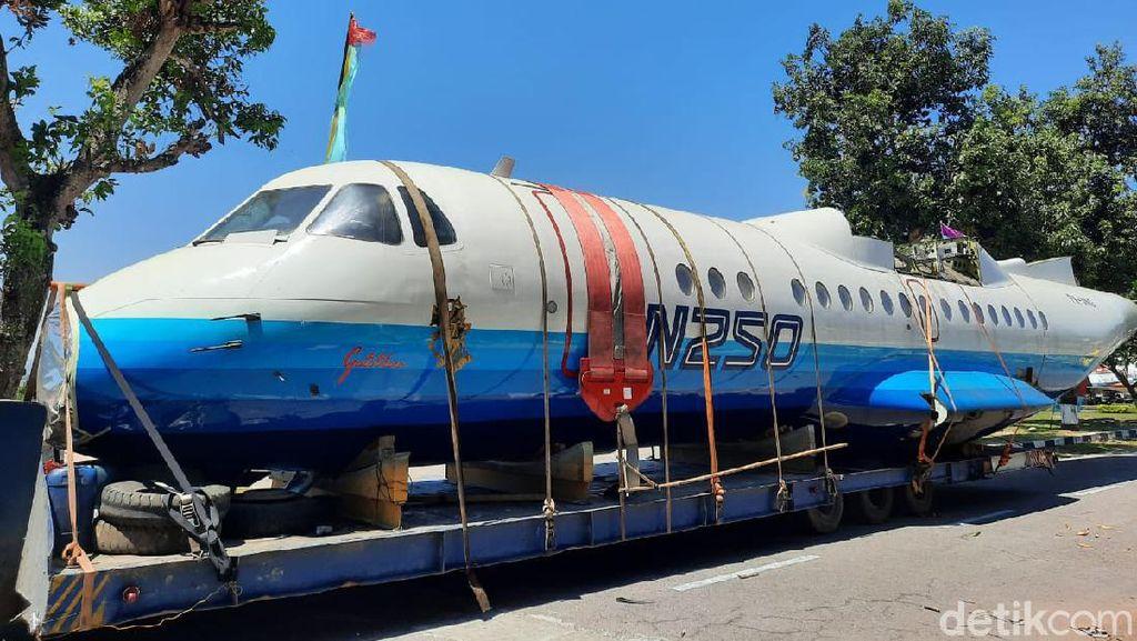 Pendaratan Terakhir N250 di Museum TNI AU DIY