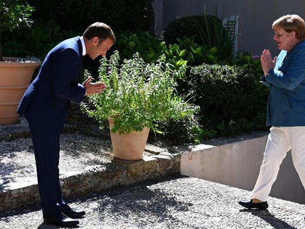 Pemimpin Prancis dan Jerman Pamer Keakraban di Benteng Bregancon