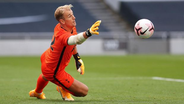 LONDON, ENGLAND - AUGUST 22: Joe Hart of Tottenham Hotspur during the Pre-season friendly match between Tottenham Hotspur and Ipswich Town  at Tottenham Hotspur Stadium on August 22, 2020 in London, England. (Photo by Catherine Ivill/Getty Images)