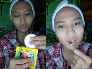 Make Up Kondangan Hemat, Pakai Bedak Agar hingga Lipstik Pewarna Makanan