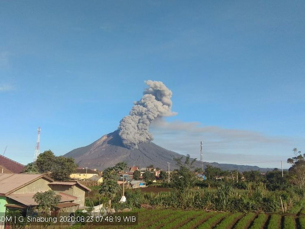 Gunung Sinabung Erupsi Pagi Ini, Warga Diminta Waspada Aliran Lahar