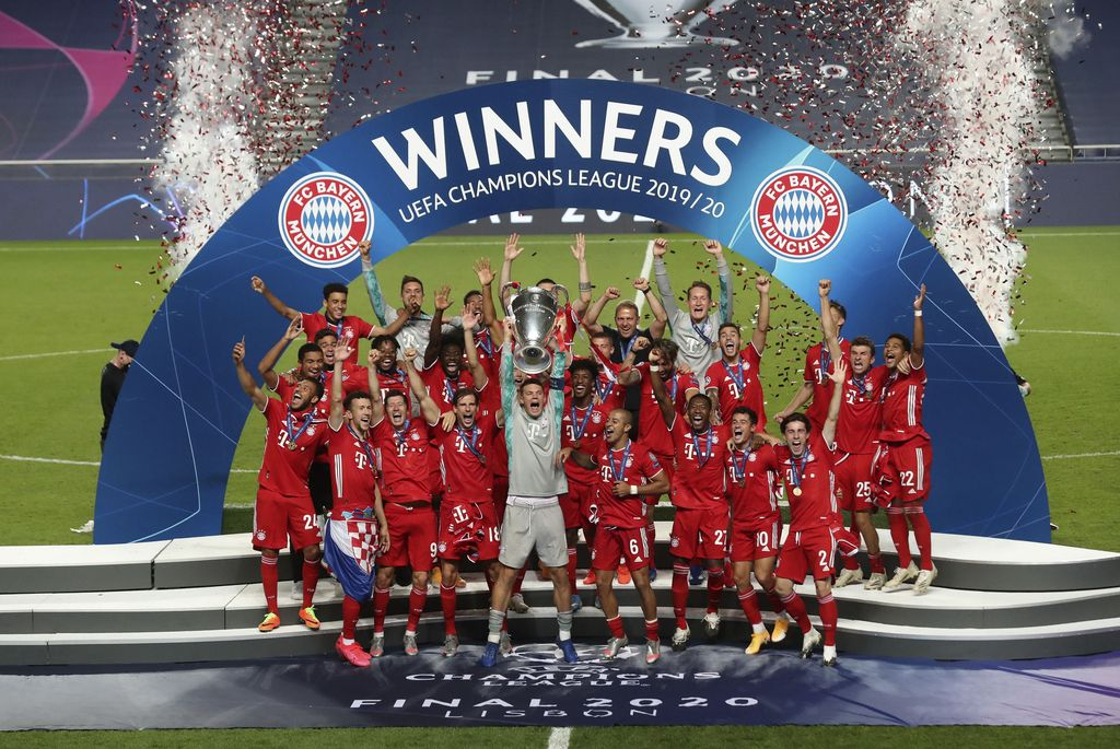Bayern Munich keluar sebagai juara Liga Champions 2019/2020. Die Roten menjadi kampiun setelah mengalahkan Paris Saint-Germain 1-0 di Estadio da Luz, Lisbon, Portugal, Senin (24/8/2020) dini hari WIB.