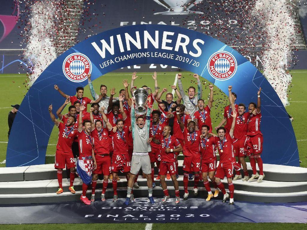 Bayern Juara Liga Champions 2020, Ini Momen Angkat Trofinya
