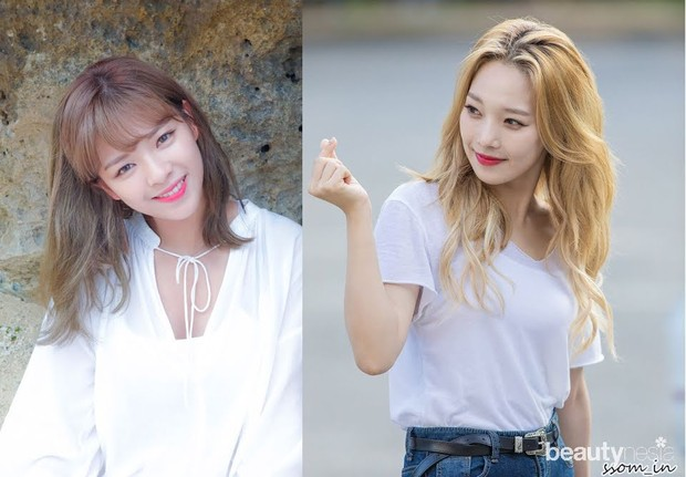 Somin KARD dan Jeongyeon TWICE/ Foto: Koreaboo