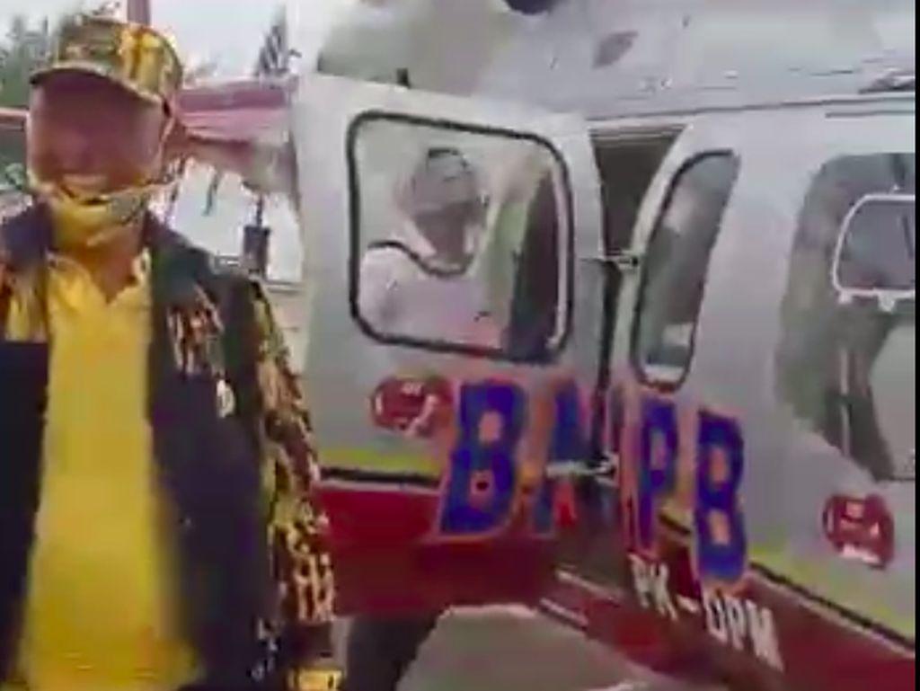 Viral Helikopter BNPB Dipakai Antar Ketua DPRD Riau ke Musda Golkar