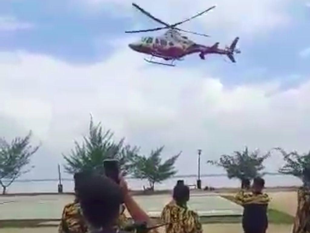 Bantahan Ketua DPRD Riau Soal Naik Heli BNPB ke Musda Golkar