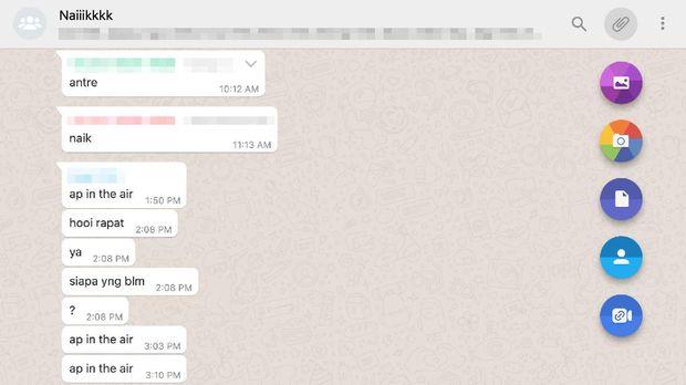 whatsapp web chat 50 orang pakai messenger room