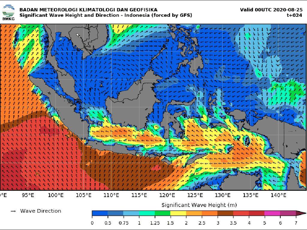 BMKG Maritim Kembali Keluarkan Waspada Gelombang Tinggi di Perairan Jatim