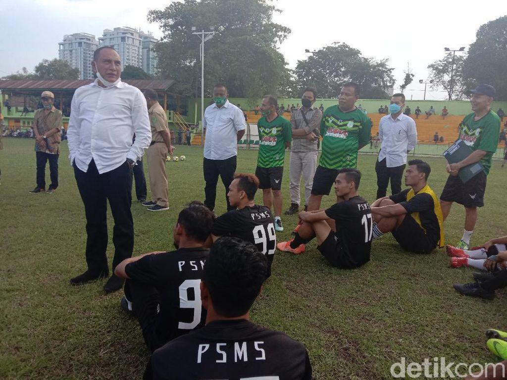 Jenguk PSMS Jelang Liga 2, Edy Rahmayadi Pasang Target Juara