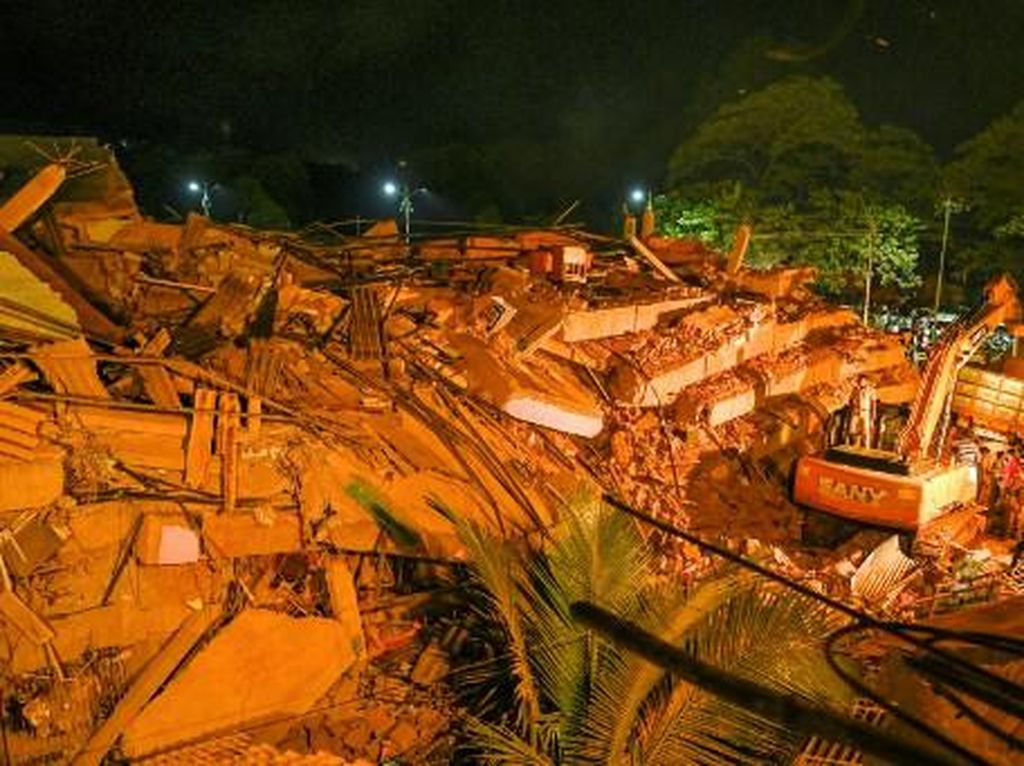 Apartemen di India Runtuh, Satu Tewas-70 Orang Terperangkap