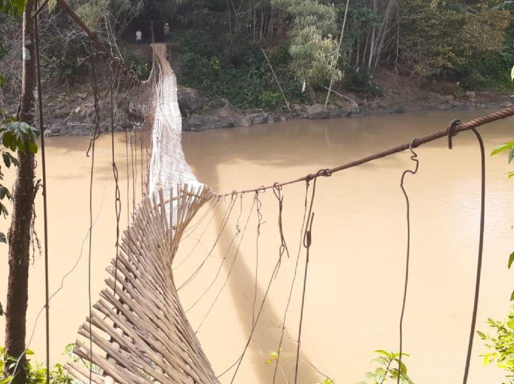 Patah Rahang, 1 Korban Jembatan Putus di Sukabumi Dirujuk ke RS Bandung