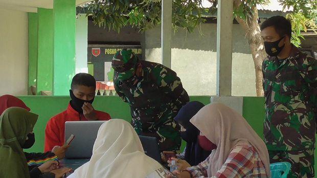 Kegiatan belajar daring di Makodim 1402/Polmas Sulawesi Barat