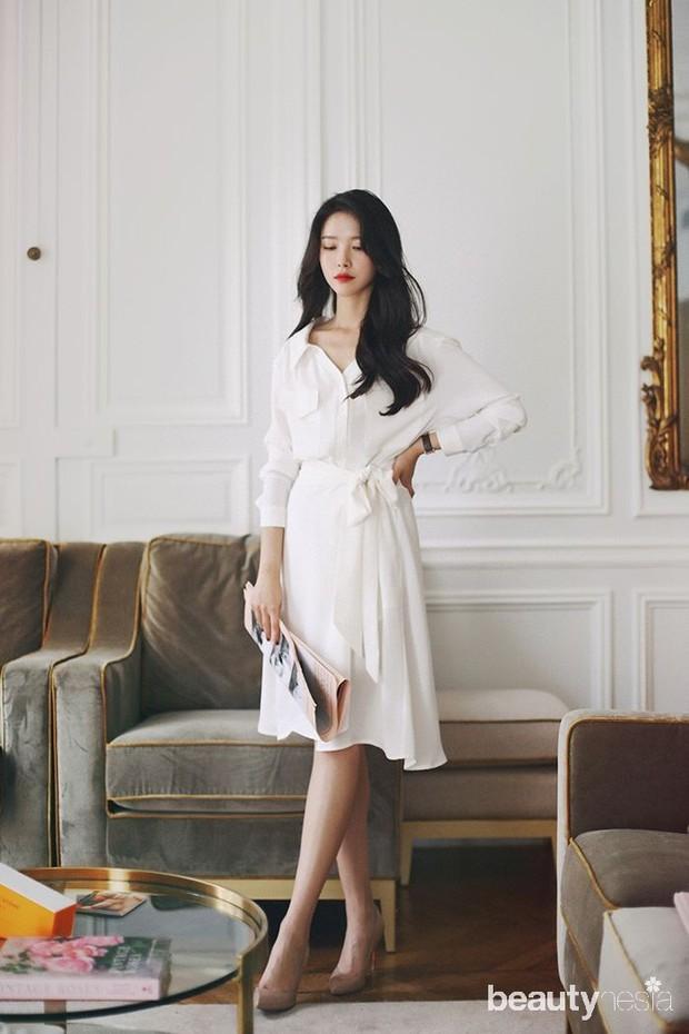 Tips memakai baju serba putih