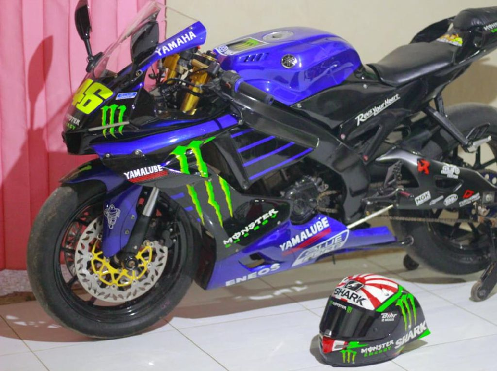 Alusss, Modifikasi Vixion Ala Motor MotoGP Valentino Rossi