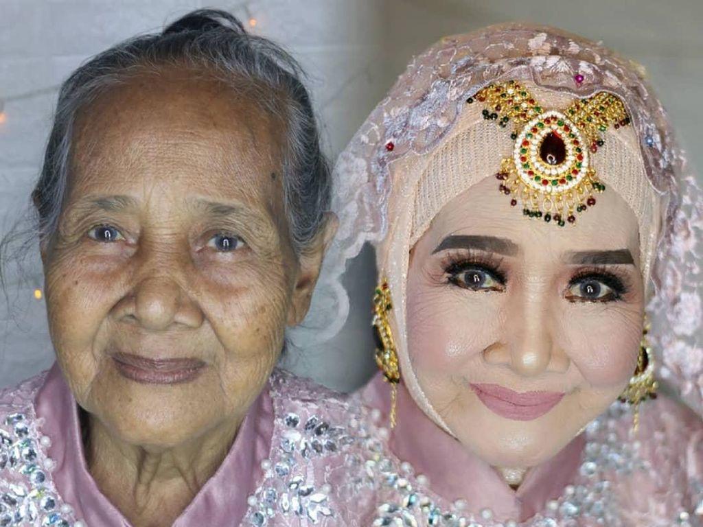 Viral, Transformasi Mbah-mbah Jadi Pengantin Cantik Ini Bikin Tercengang