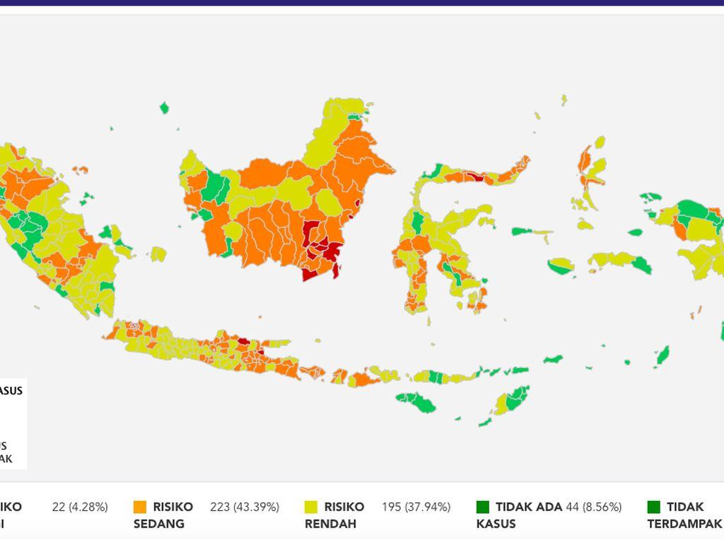 Daftar Lengkap Zona Corona di Indonesia Per 23 Agustus 2020