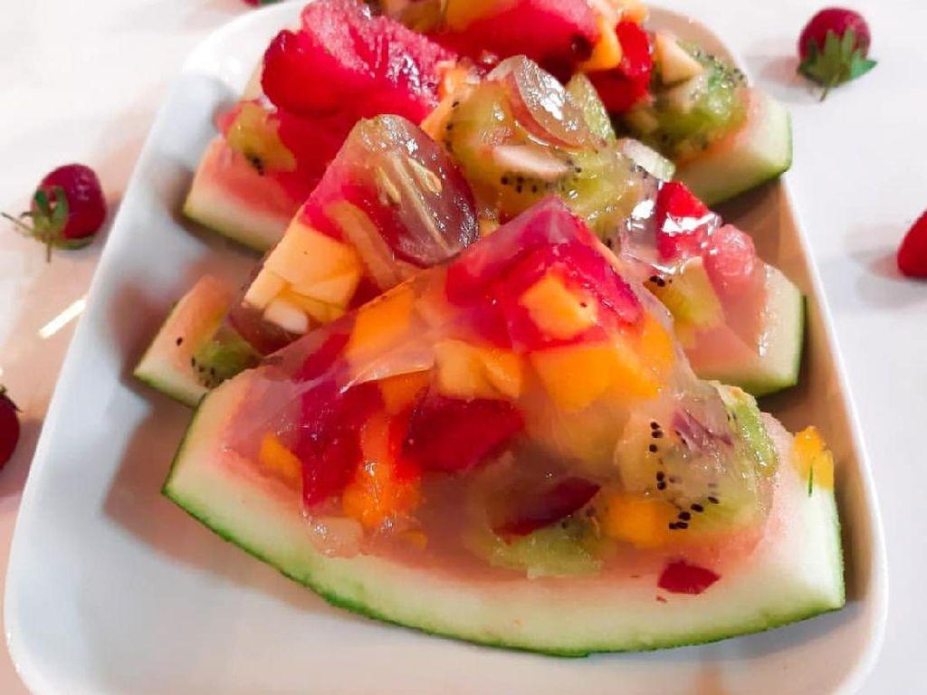 Masak Masak : Puding Buah Dalam Semangka