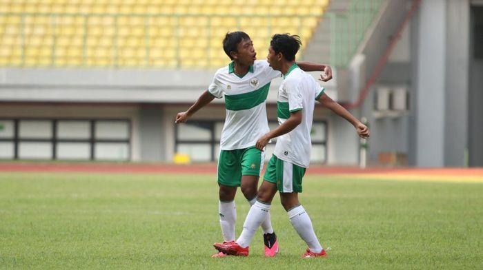 Timnas Indonesia U-16 memetik kemenangan 4-1 saat uji coba dengan Asosiasi Kota Bandung U-18.