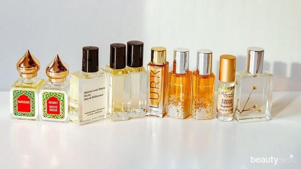 Beberapa botol jenis parfum