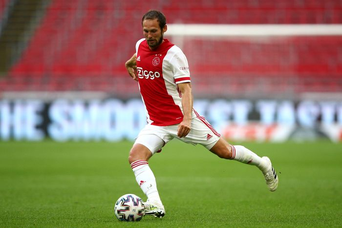 AMSTERDAM, NETHERLANDS - AUGUST 08:  Daley Blind of Ajax in action during the pre-season friendly match between Ajax Amsterdam and RKC Waalwijk at Johan Cruijff Arena on August 08, 2020 in Amsterdam, Netherlands. (Photo by Dean Mouhtaropoulos/Getty Images)