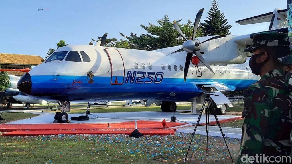 Foto Pesawat N250 yang Dimonumenkan di Museum TNI AU Yogya