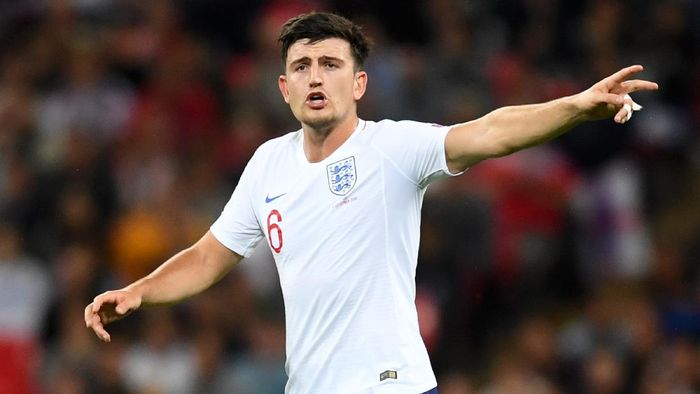 LONDON, ENGLAND - SEPTEMBER 08:  Harry Maguire of England reacts during the UEFA Nations League A group four match between England and Spain at Wembley Stadium on September 8, 2018 in London, United Kingdom.  (Photo by Michael Regan/Getty Images)