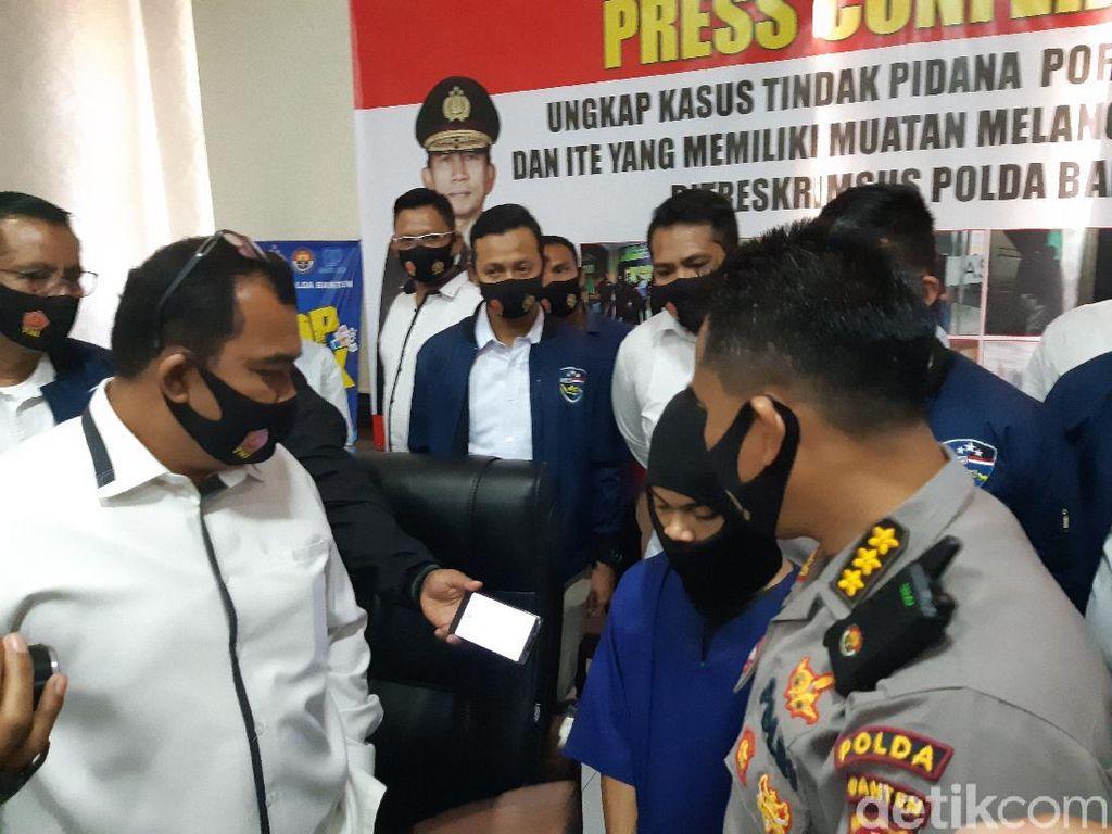 Sebar Foto-Video Pelajar Bugil, Mahasiswa Ini Ditangkap Polda Banten