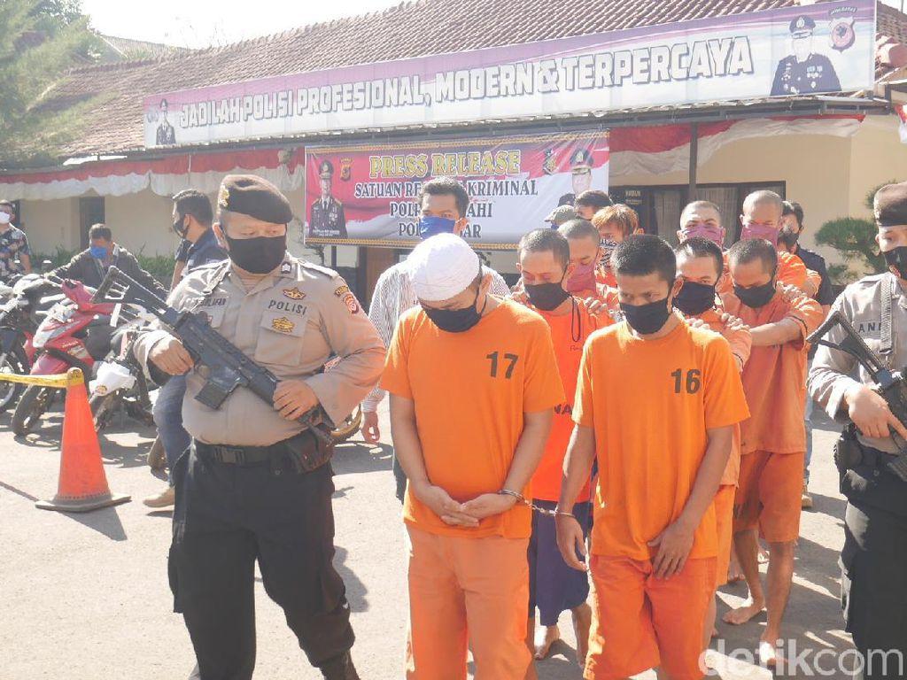 11 Pelaku Curanmor dan Pembobolan Rumah di Cimahi Dibekuk Polisi