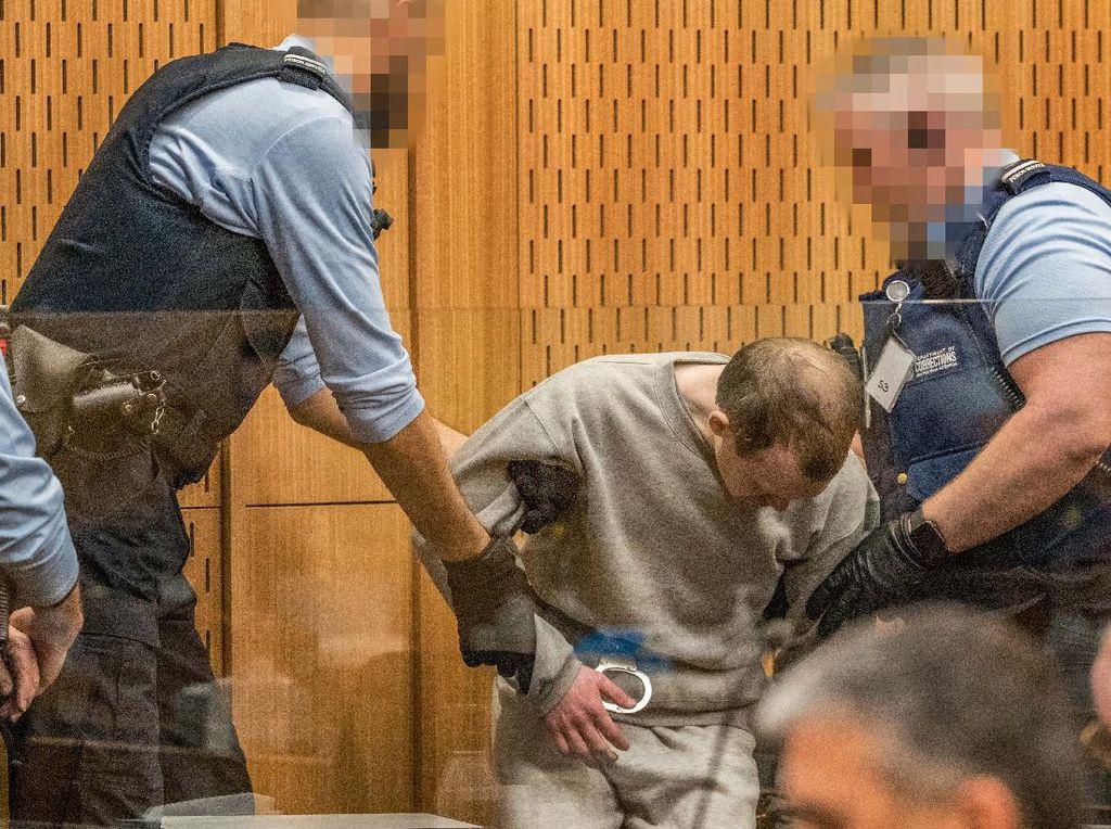 Ekspresi Penembak 51 Muslim di Masjid Selandia Baru Divonis Bui Seumur Hidup