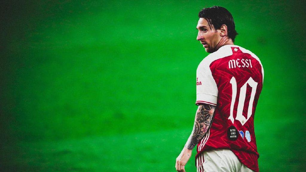 Penampakan Messi dengan Berbagai Jersey