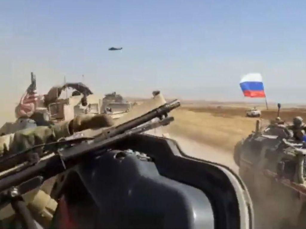 Tegang! Kendaraan Tempur AS Vs Rusia di Suriah Terekam Kamera