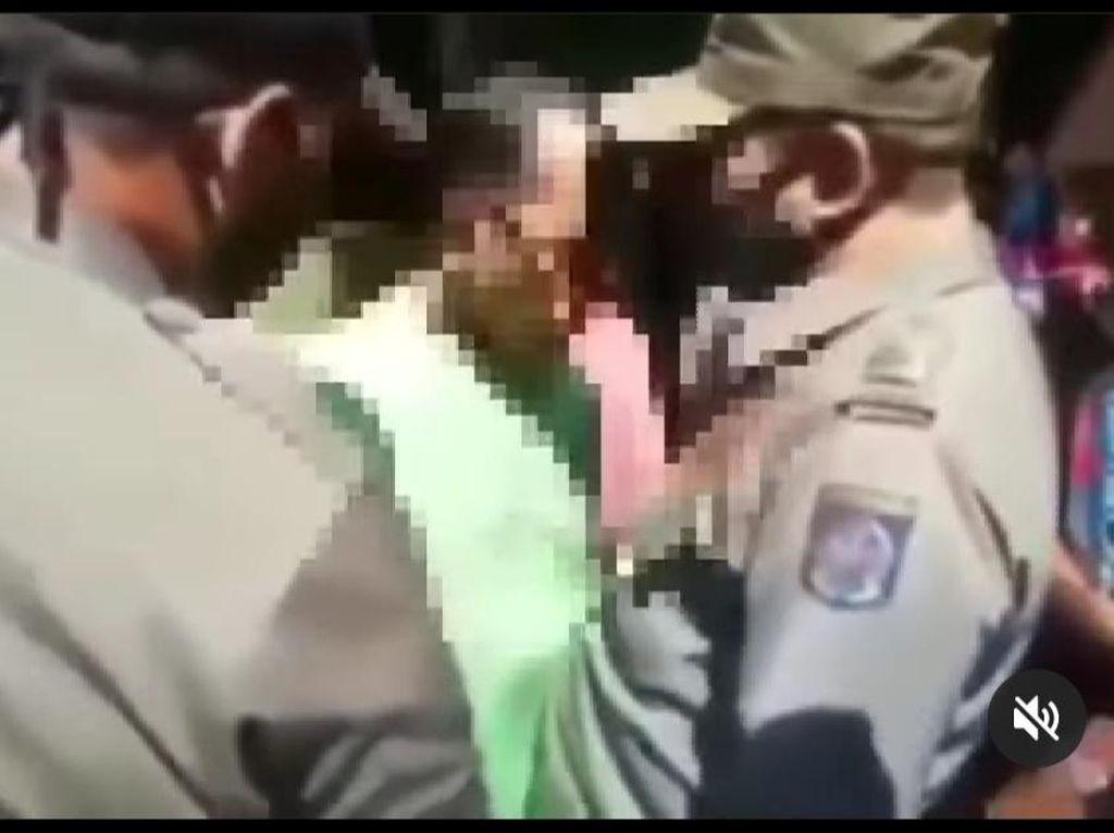 Viral Pria Tak Bermasker Cekcok dan Dorong Satpol PP di Depok