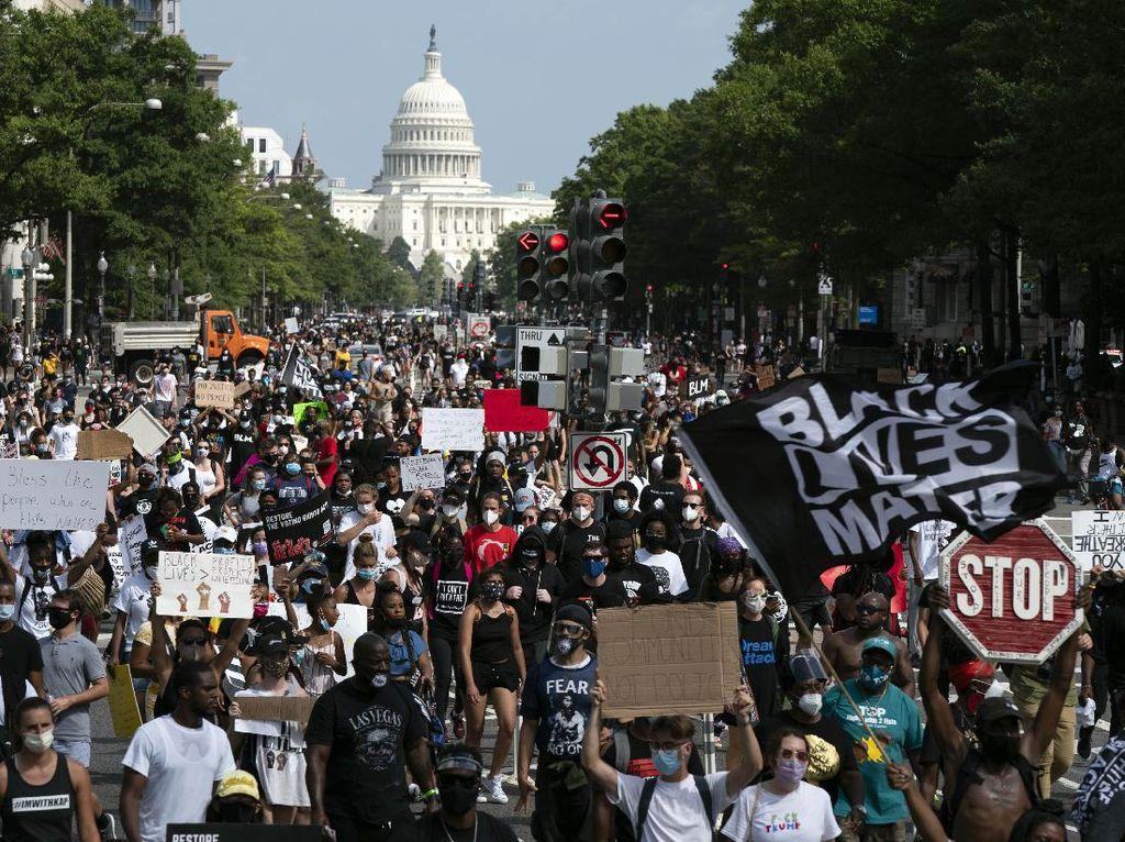 Ribuan Orang Berkumpul di Washington DC Mengecam Rasisme