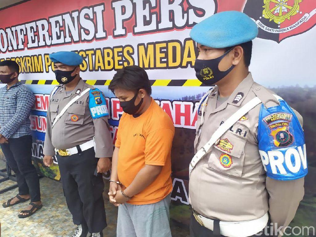 Polisi Tembak Mati Begal Pembacok Pemotor di Medan
