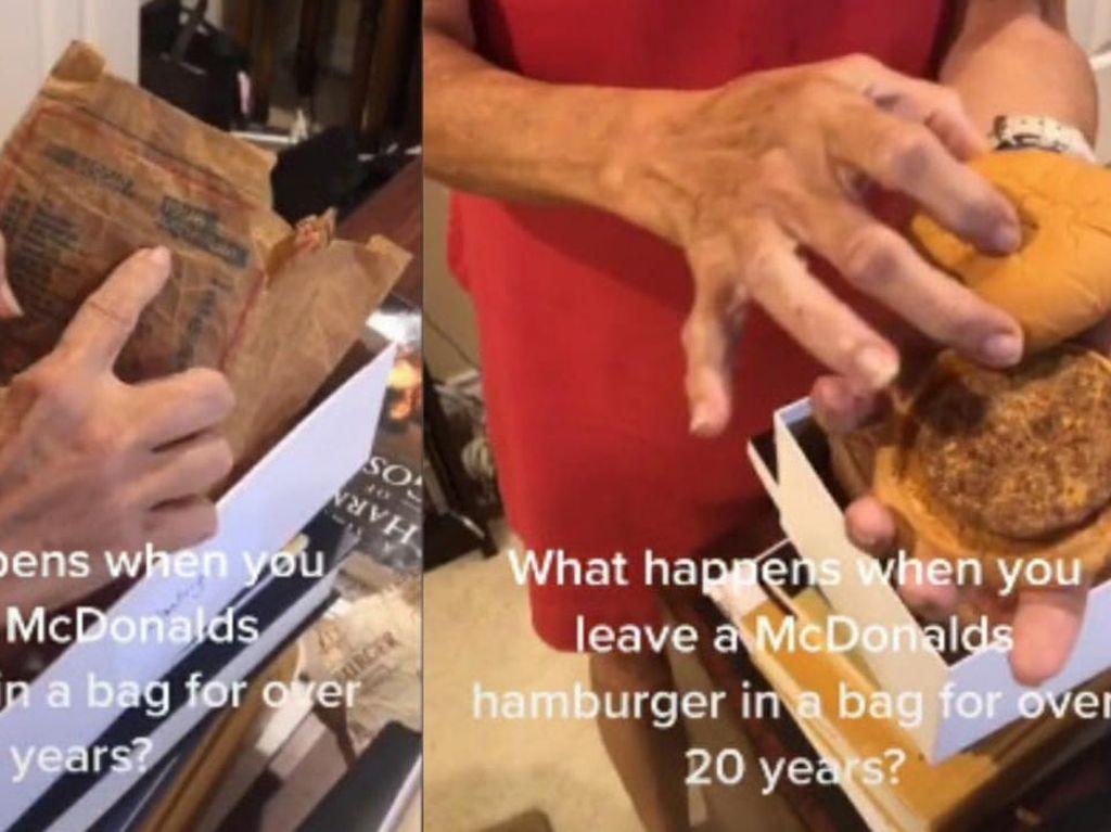 Wow! Disimpan 24 Tahun, Paket Burger McD Masih Utuh