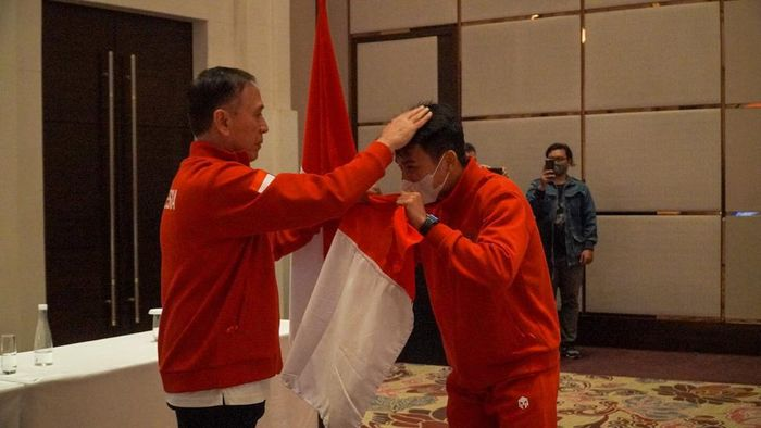 Ketua Umum PSS, Mochamad Iriawan, memberangkatkan Timnas U-19 ke Kroasia